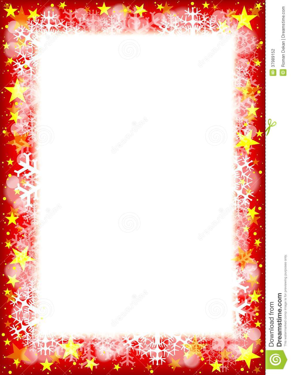 Christmas star border merry and happy new year