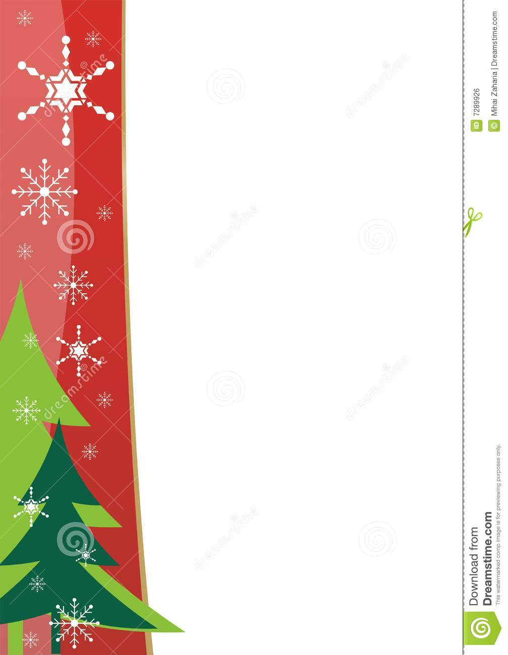 Christmas Border Template  Christmas Template Free
