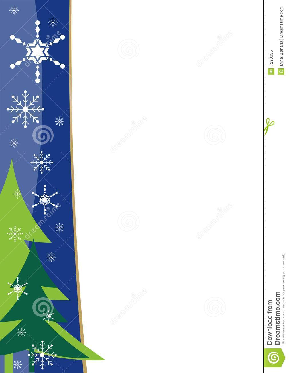 christmas border template stock vector illustration of tree 7290035. Black Bedroom Furniture Sets. Home Design Ideas