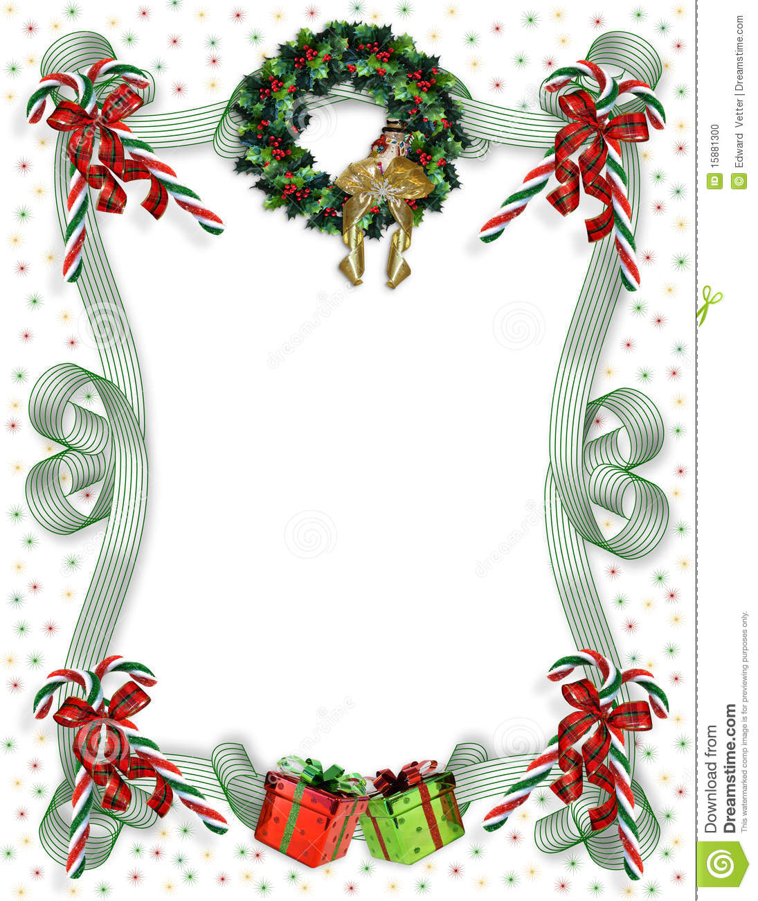 christmas border traditional stock photo image 15881300 christmas border traditional
