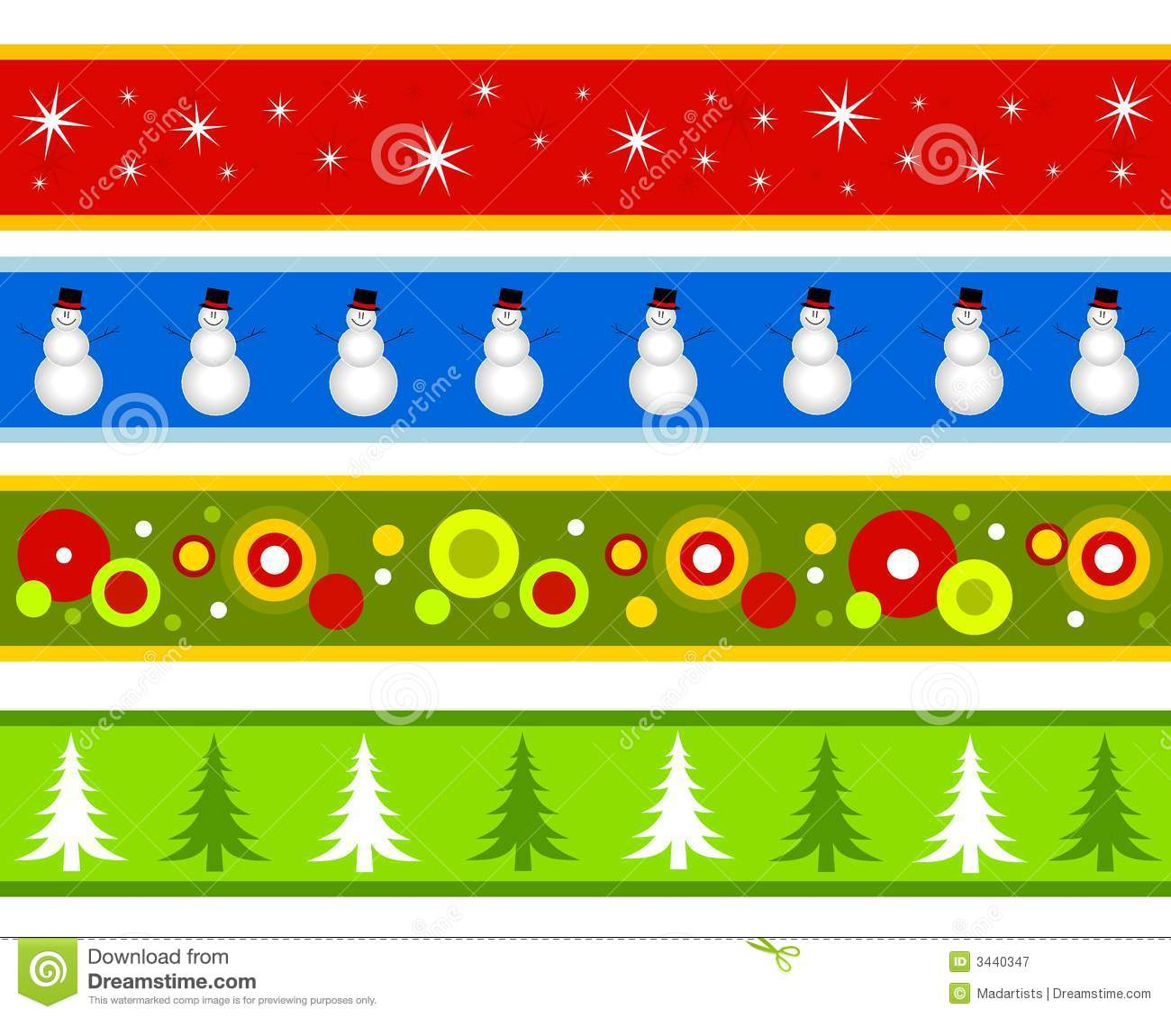 Christmas Borders Or Banners Royalty Free Stock Photography - Image ...