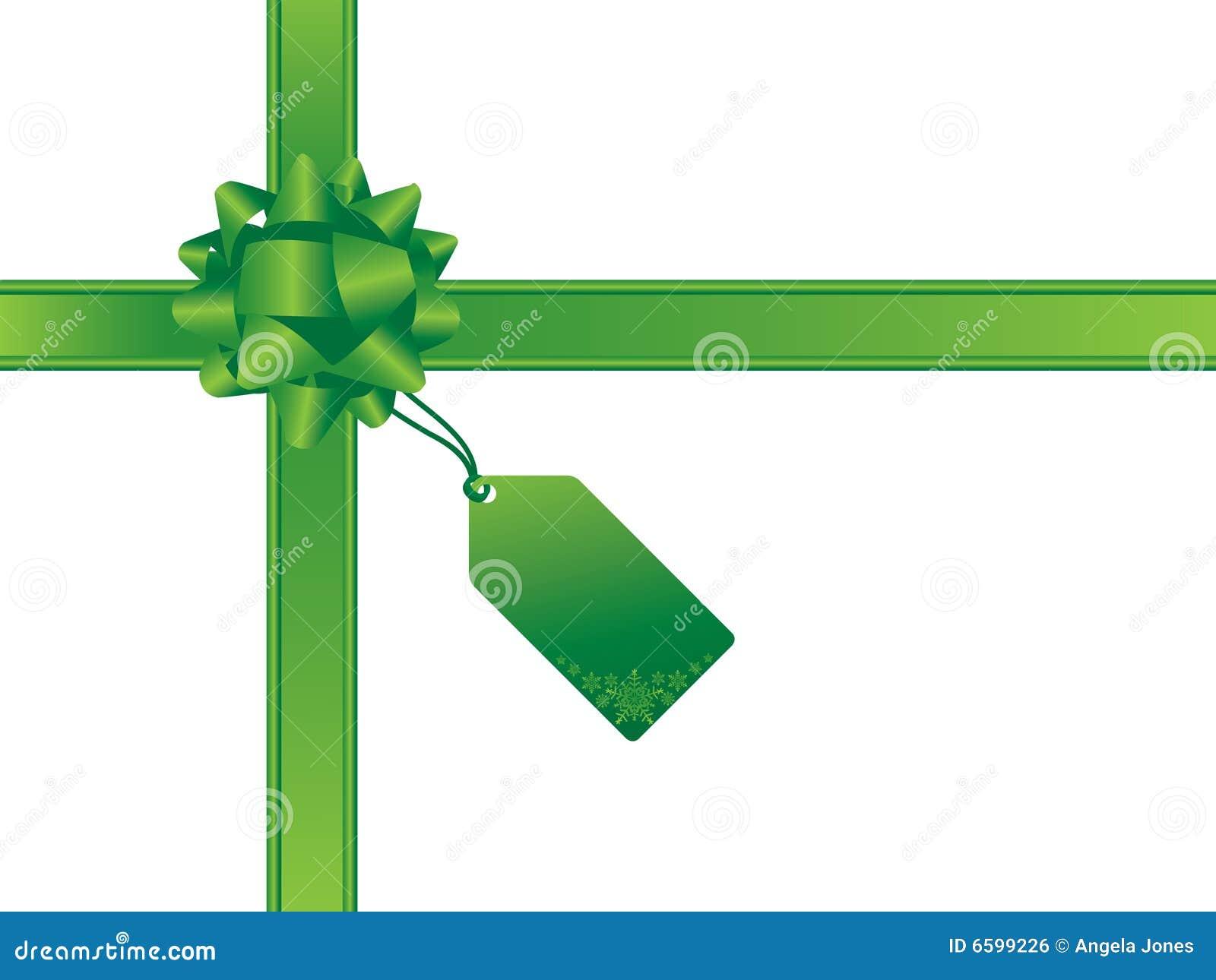 Christmas Bow And Gift Card Stock Vector - Image: 6599226