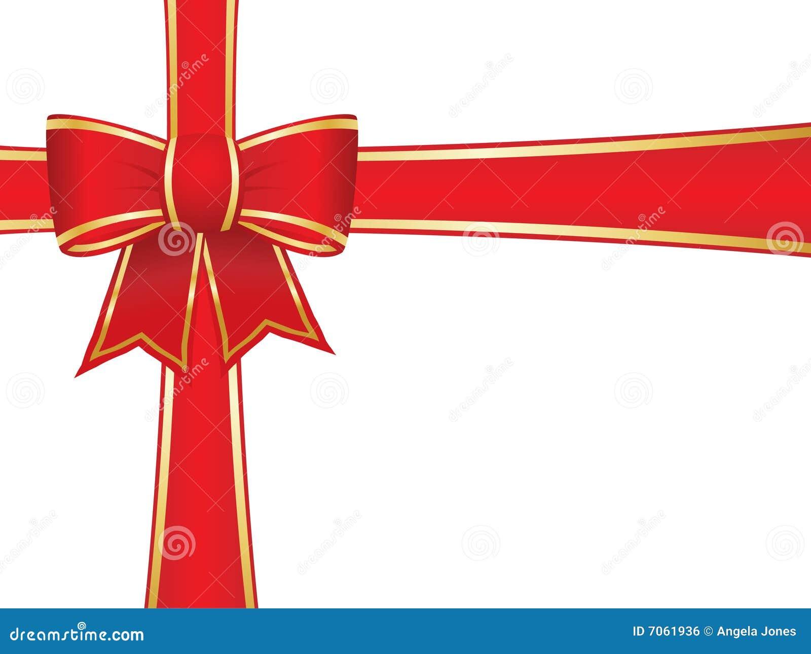 Christmas bow and ribbons royalty free stock image