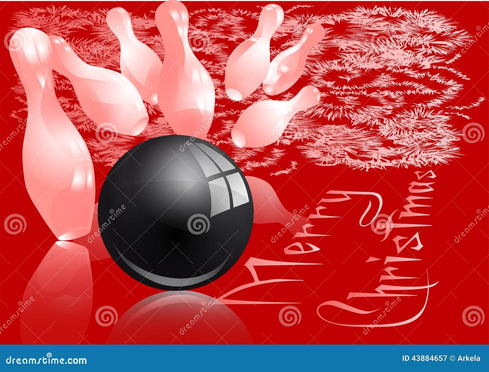 Christmas Bowling Strike Stock Vector Image 43884657