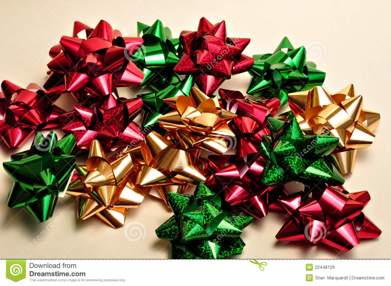 Christmas Bows Royalty Free Stock Images Image 22448129