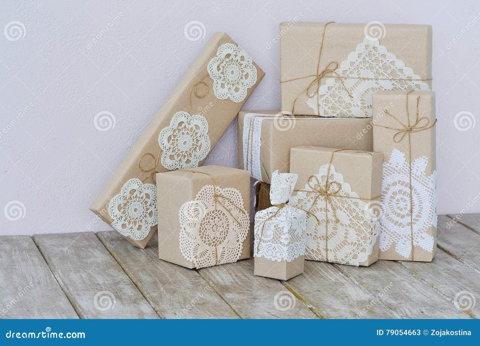 Christmas Box Wrapping Ideas Stock Image Image Of Decoration