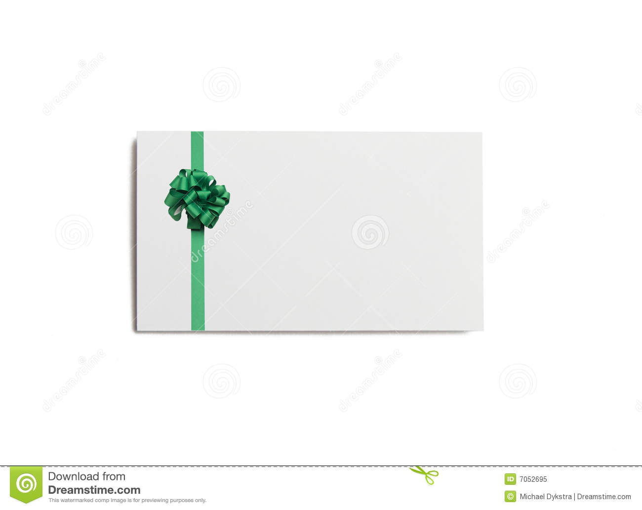 Christmas Business Card stock image. Image of ribbon, business - 7052695