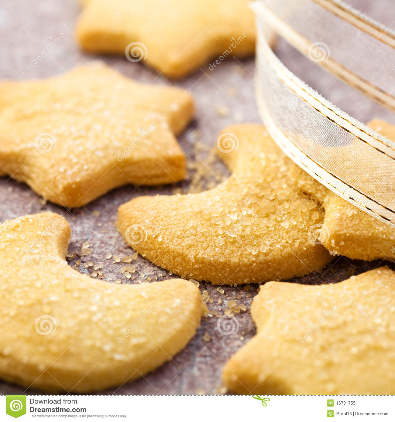 Christmas Butter Biscuits With Brown Sugar Royalty Free ...