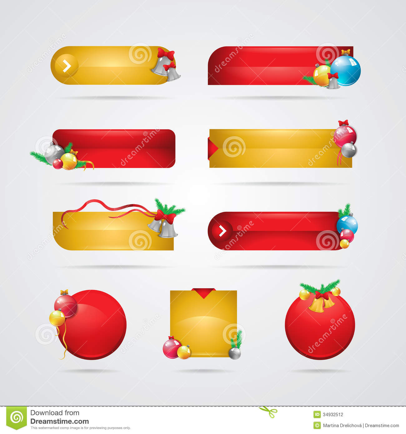 download christmas buttons stock vector illustration of effect 34932512 - Christmas Buttons