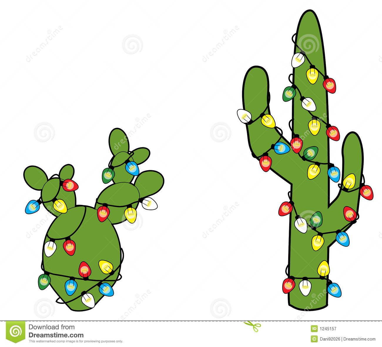 Cactus Decorated For Christmas: Christmas Cacti Royalty Free Stock Photography