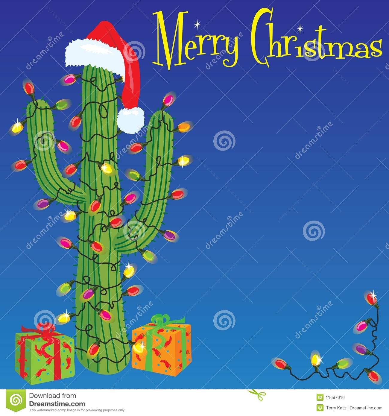 Christmas Cactus Stock Vector Illustration Of Space