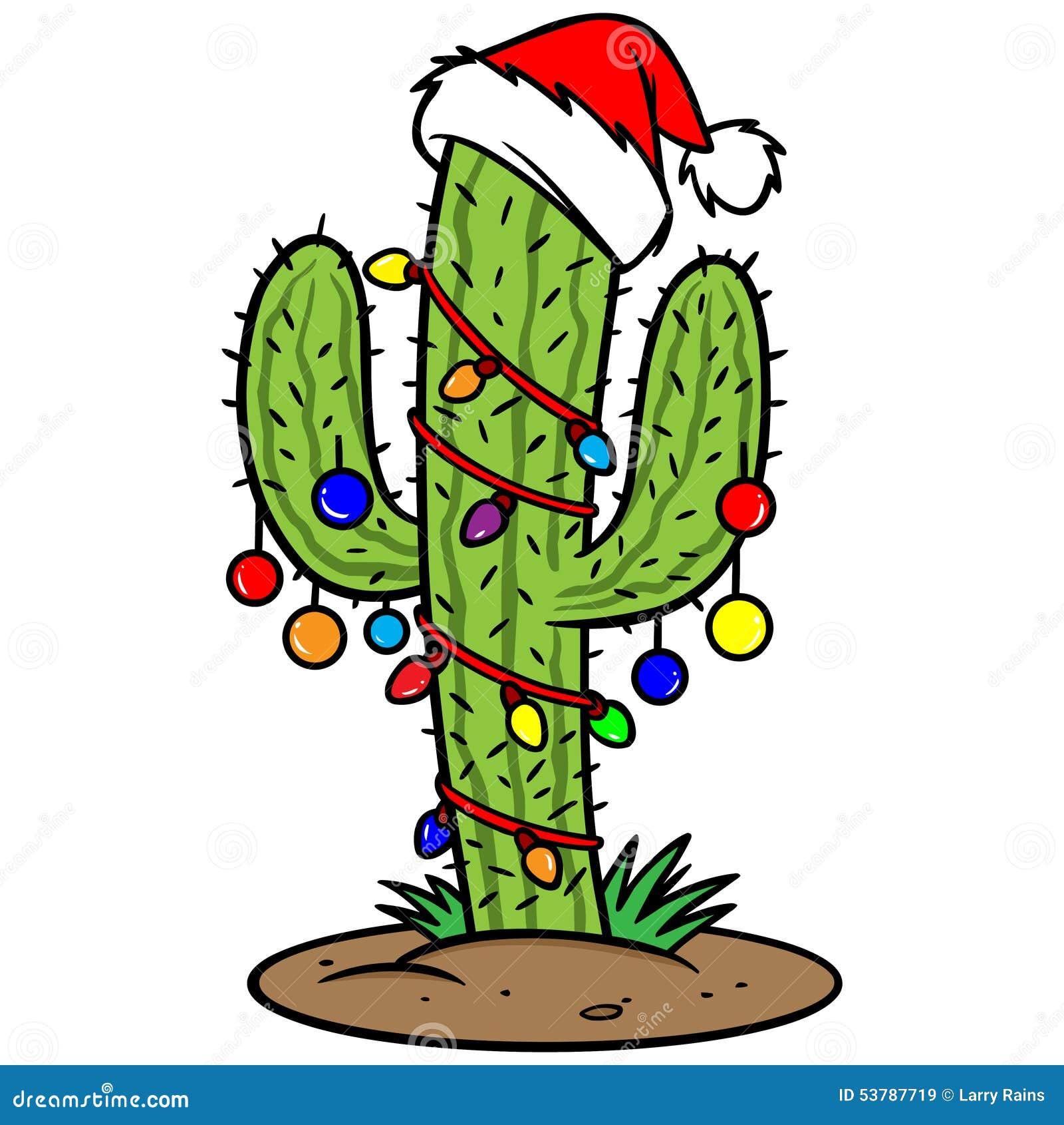 Christmas cactus stock vector image 53787719
