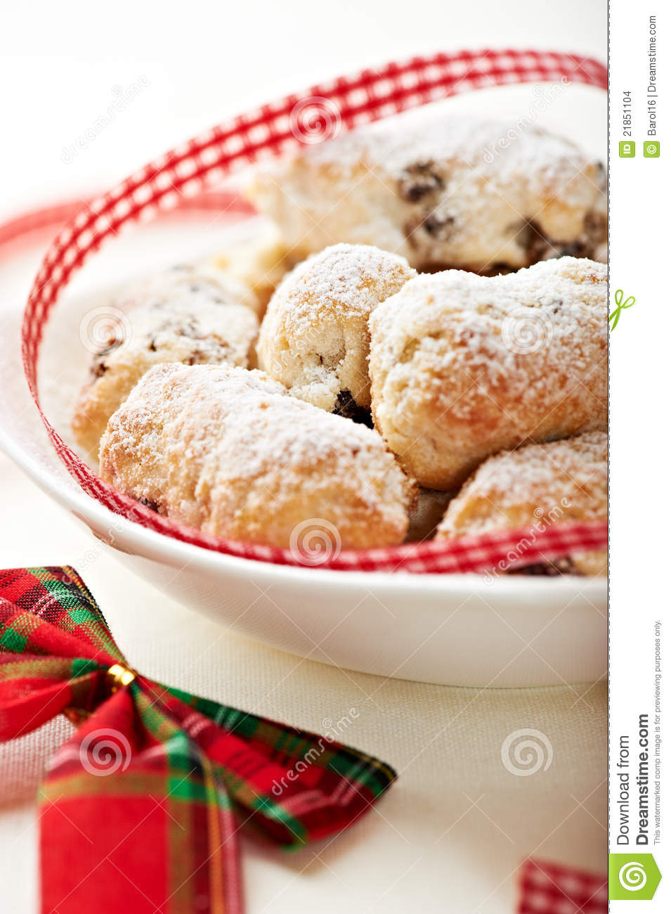 Similar stock images of christmas cake with icing sugar in a bowl