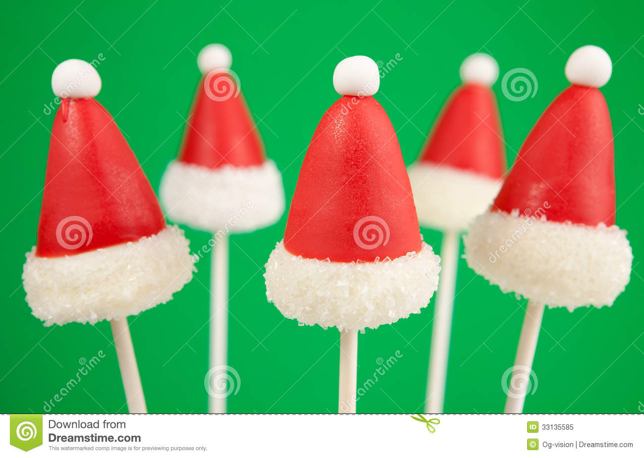 Decorating Cake Pops Fondant : Christmas Cake Pops Royalty Free Stock Photo - Image: 33135585