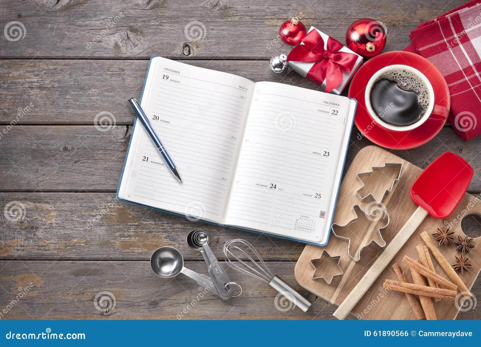 Christmas Calendar Baking Organiser