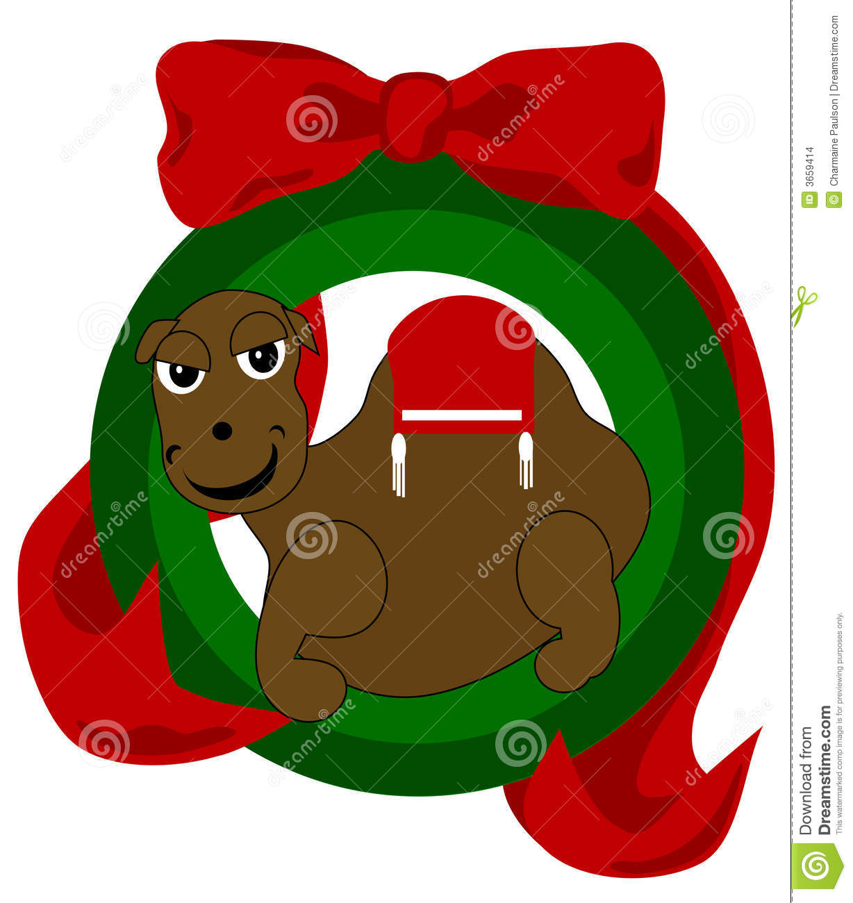 Christmas Camel Stock Images - Image: 3659414