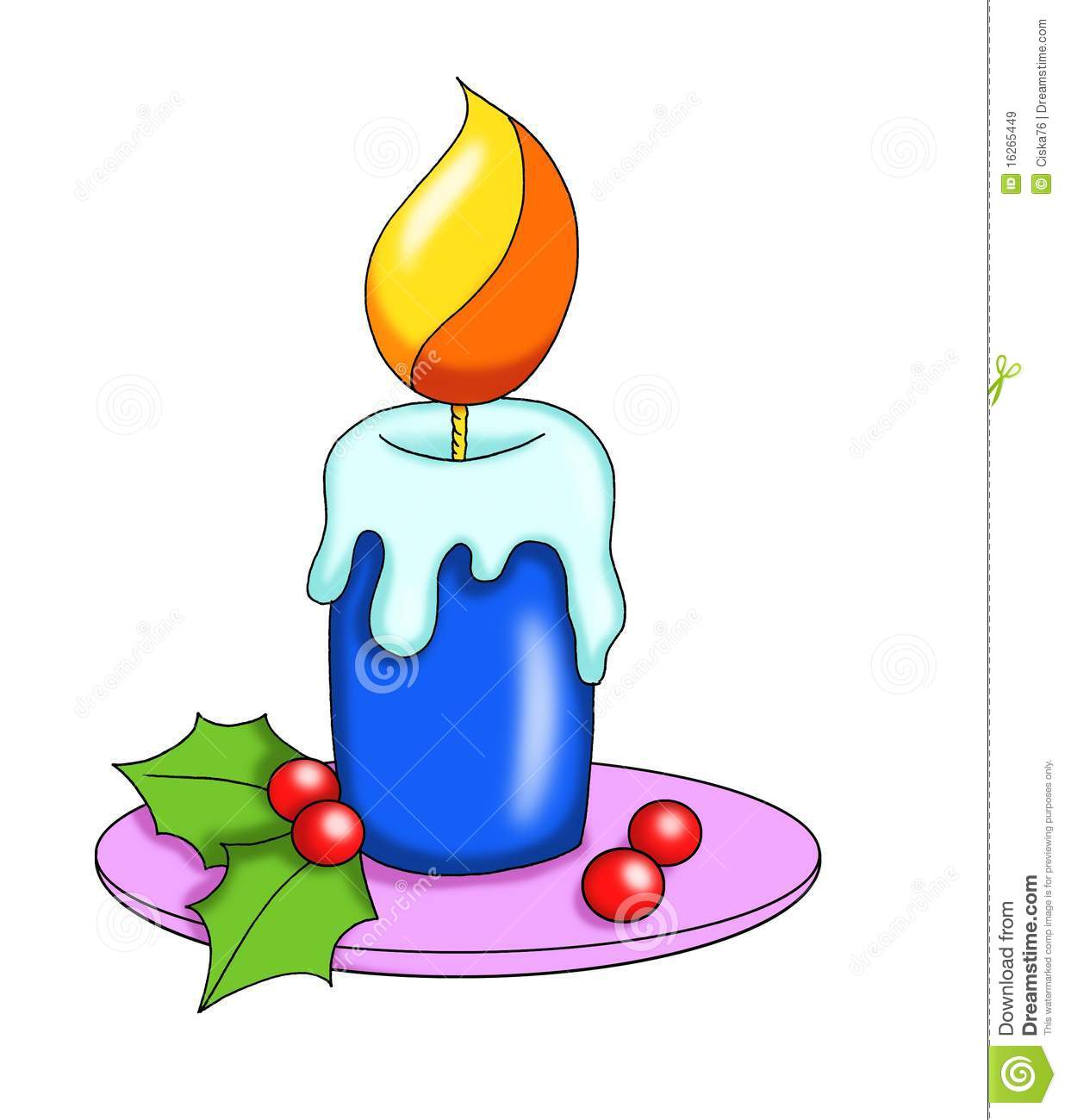 Christmas Candle Stock Illustration Illustration Of Artistic