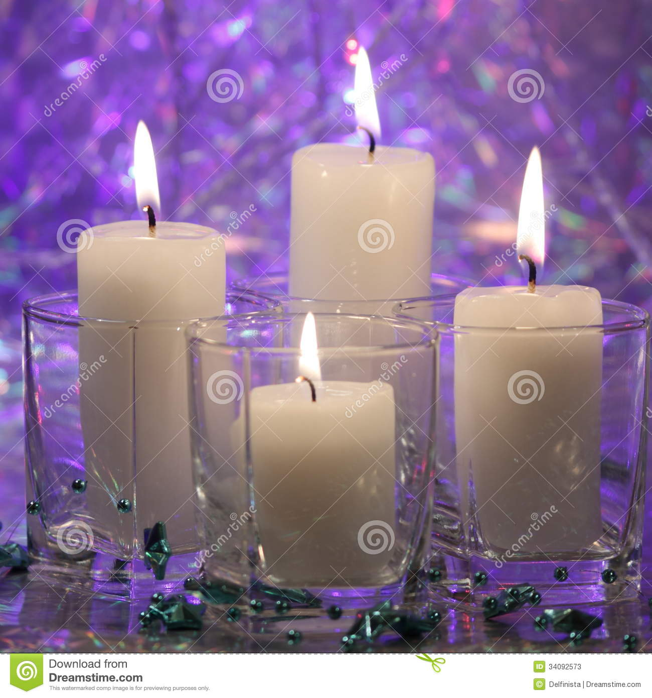 Christmas Candle Card Stock Photos Stock Photos Image