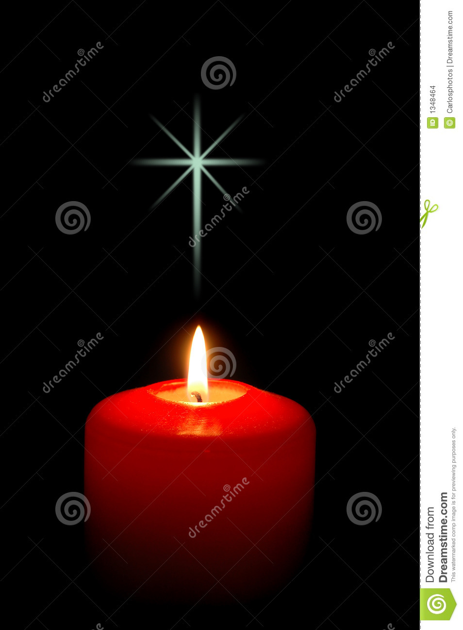 Christmas Candle With Cross Stock Images Image 1348464
