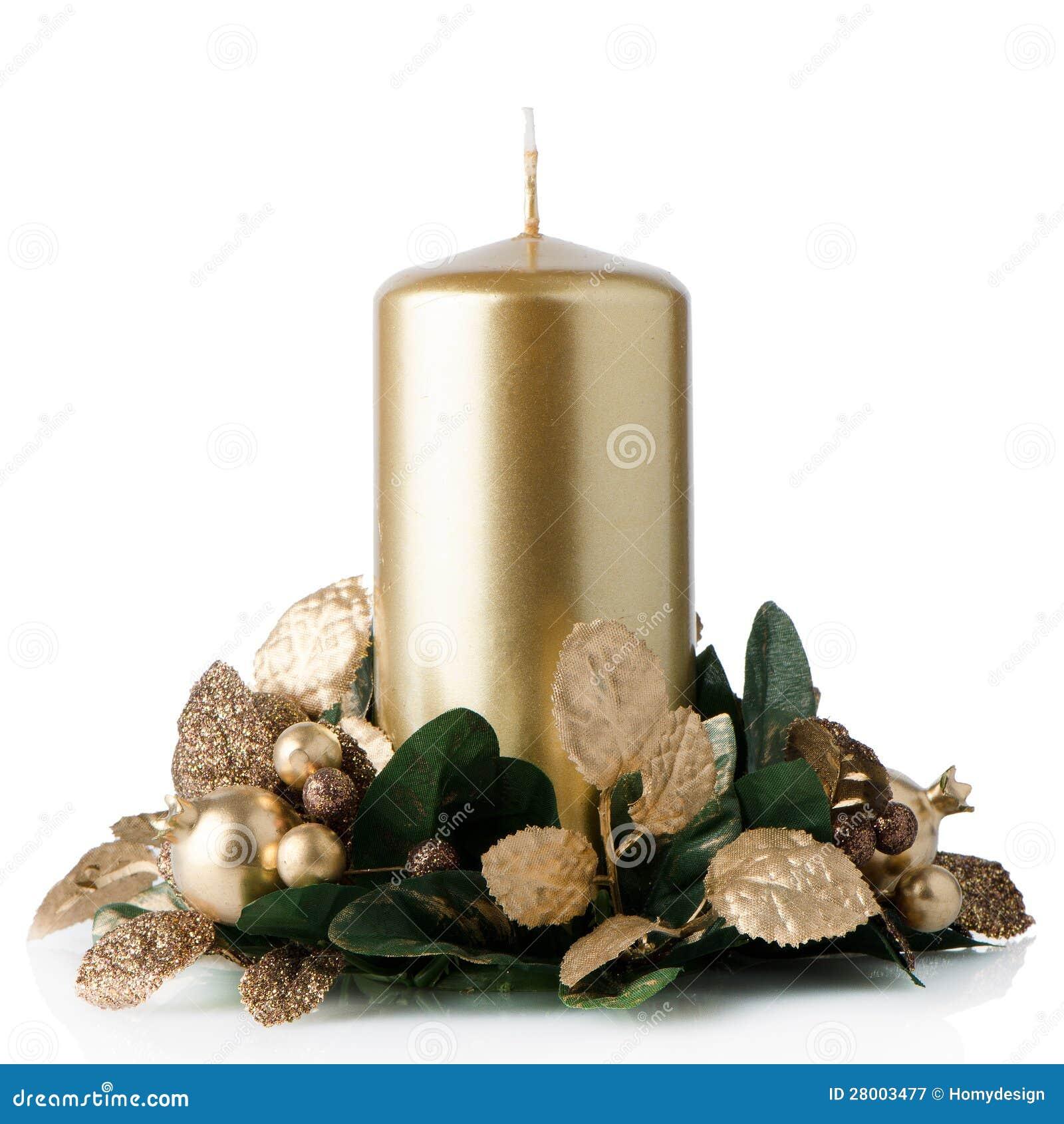 Christmas candle decoration stock image image 28003477 for 7 candle christmas decoration