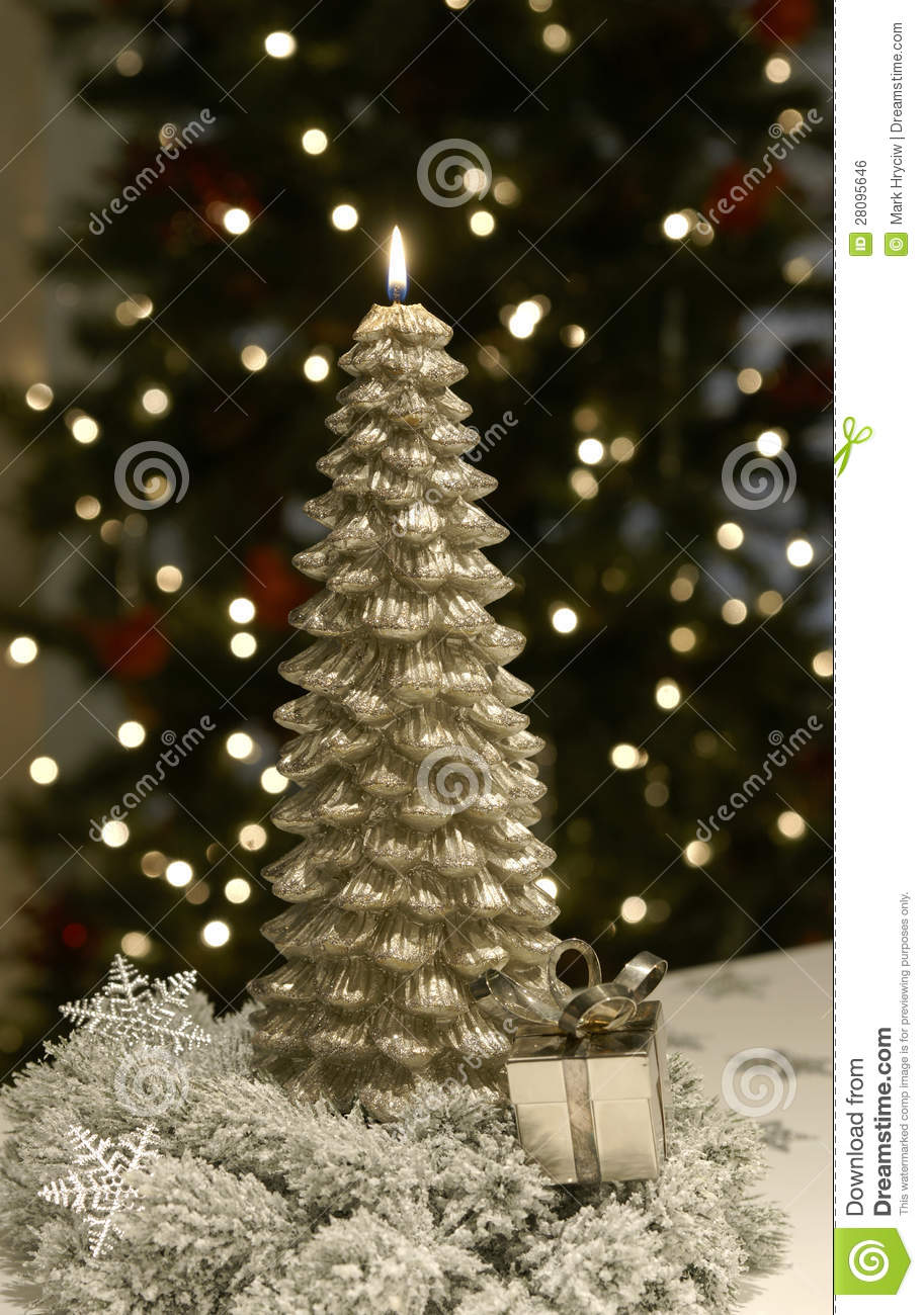 download christmas candle tree flame gold stock photo image of light gold 28095646