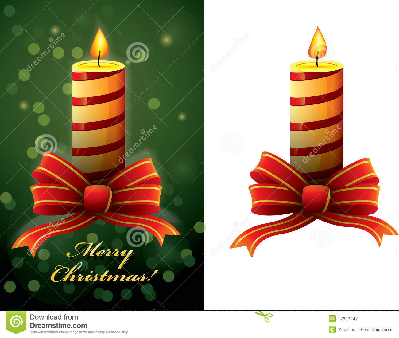Christmas Candle Vector Royalty Free Stock Photography - Image ...