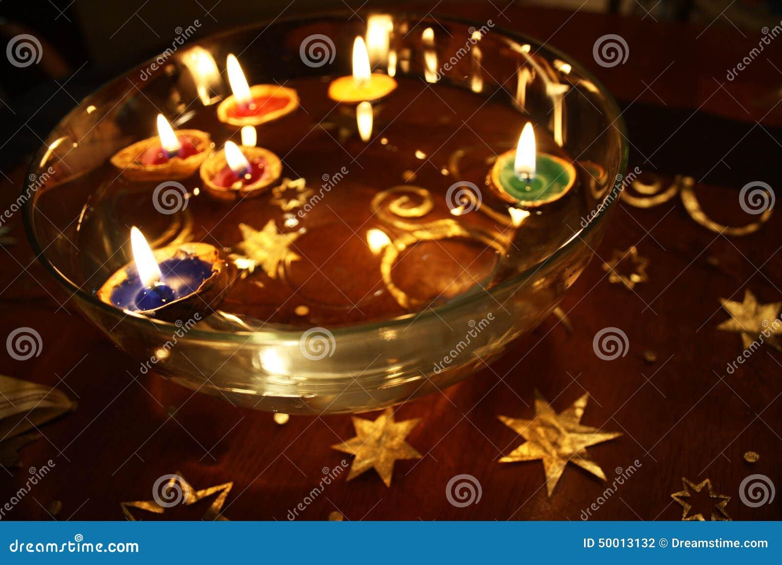 Christmas Floating Candles.Christmas Candles Stock Photo Image Of Stars Christmas