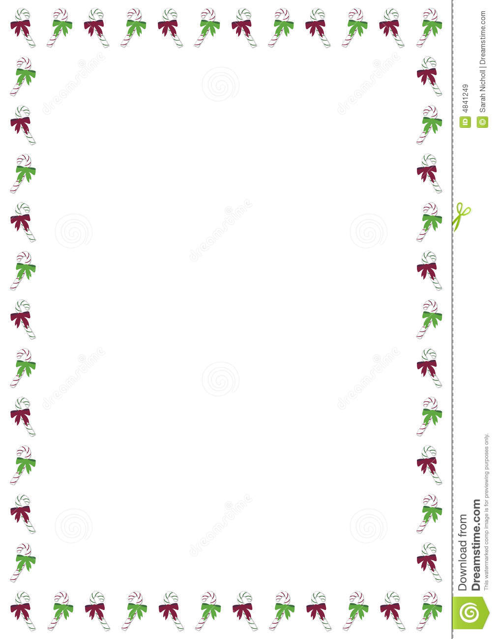 Christmas Candy Cane Border Stock Illustration