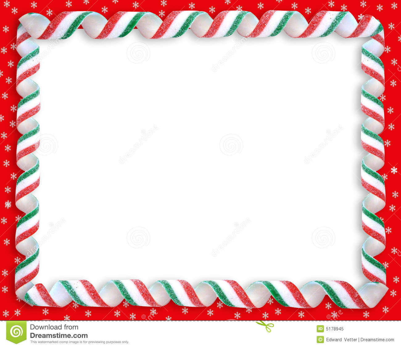 Christmas Candy Frame Border Royalty Free Stock Photo - Image: 5178945