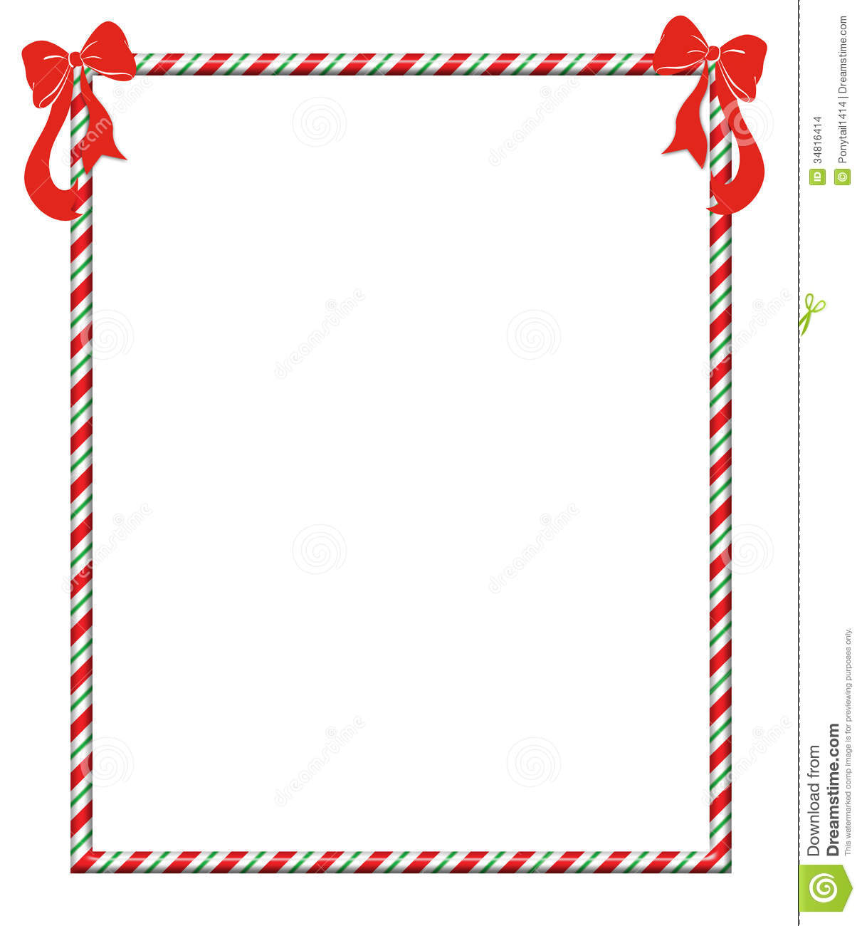 Christmas Candycane Frame stock illustration. Illustration of ...