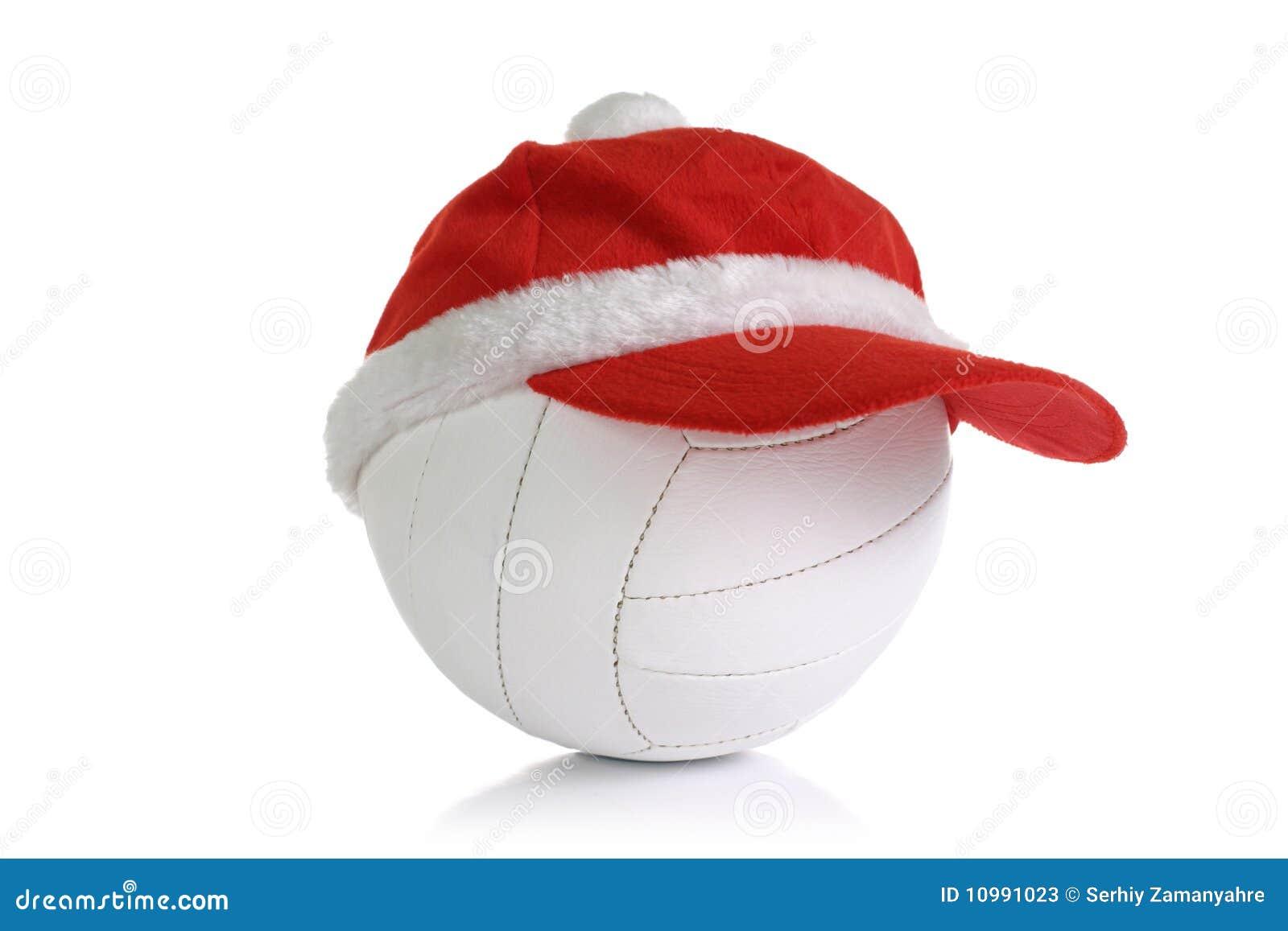 Christmas Cap On Ball Stock Photos - Image: 10991023