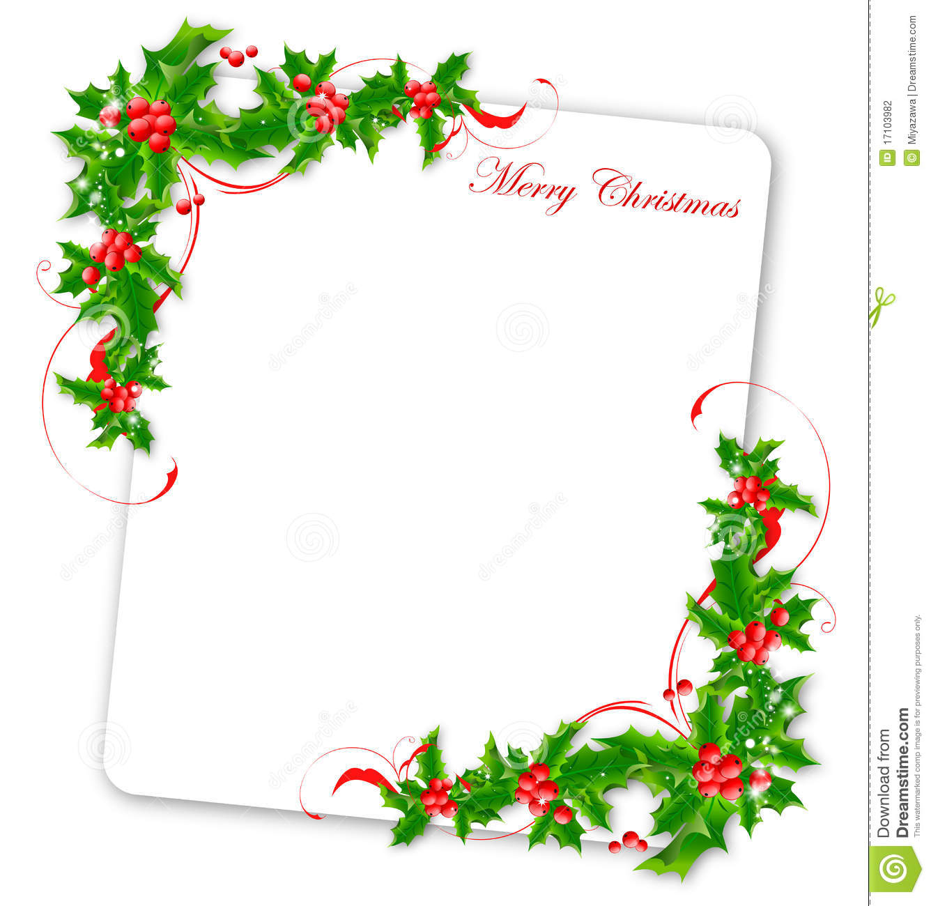 Christmas Card Border.Christmas Card Stock Illustration Illustration Of