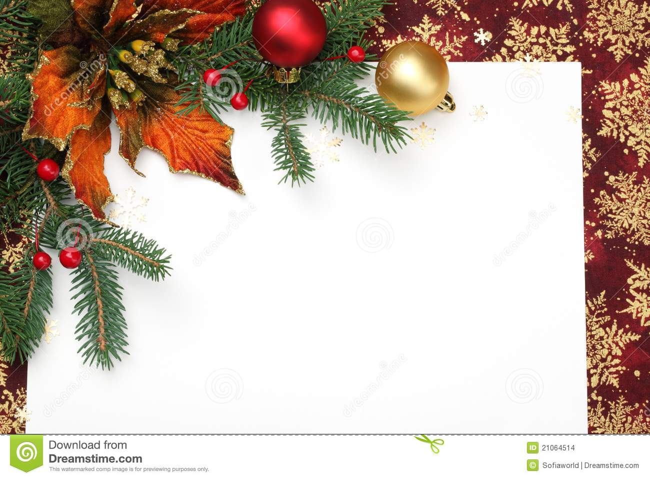 Christmas Card Stock Images - Image: 21064514