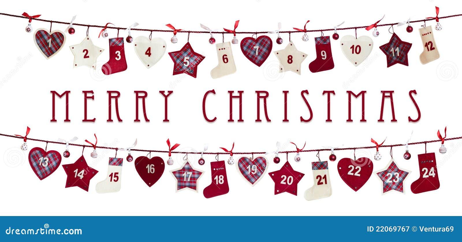 Art Advent Calendar : Christmas card advent calendar stock image of