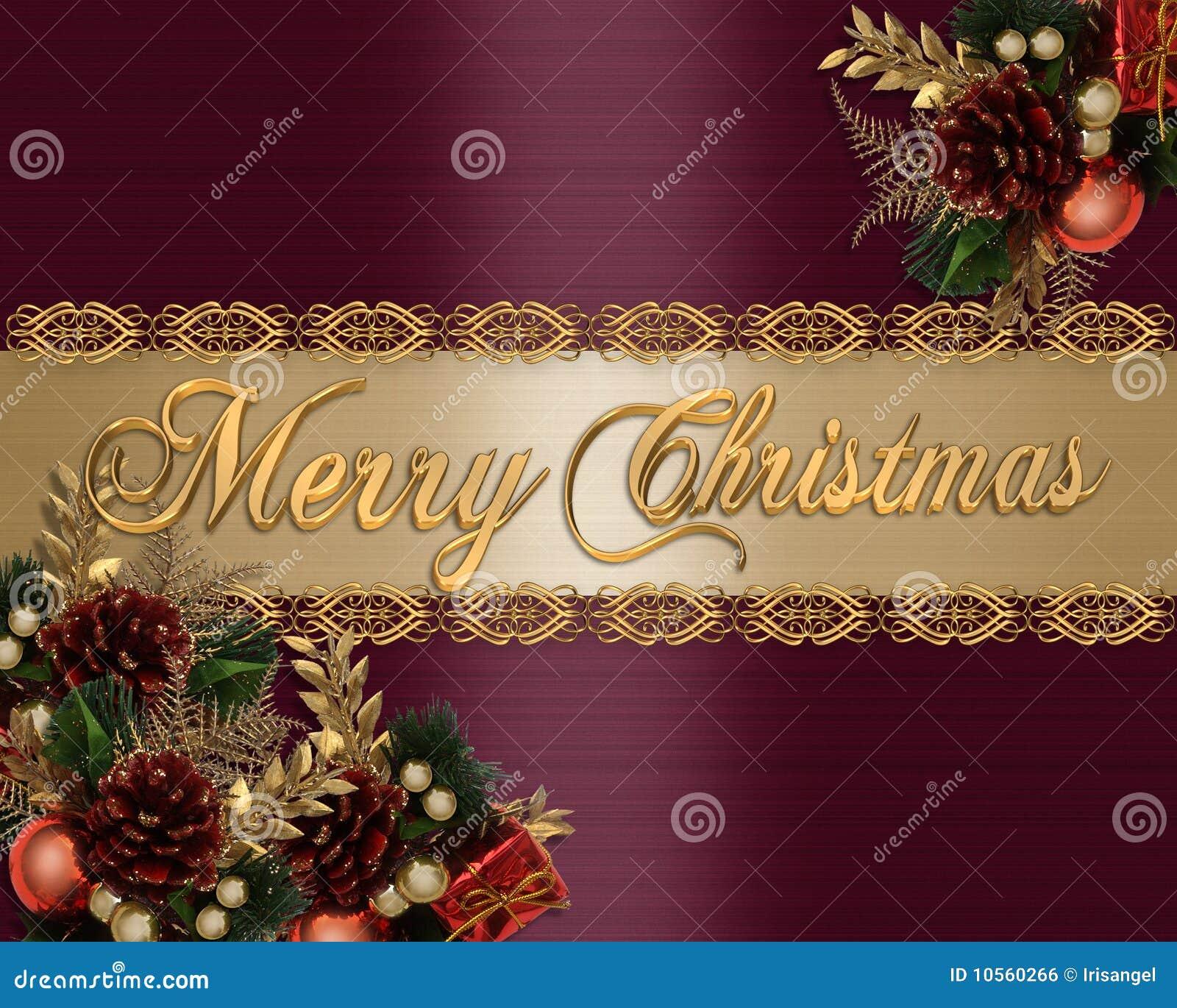 christmas card background elegant vector illustration - Elegant Christmas Cards