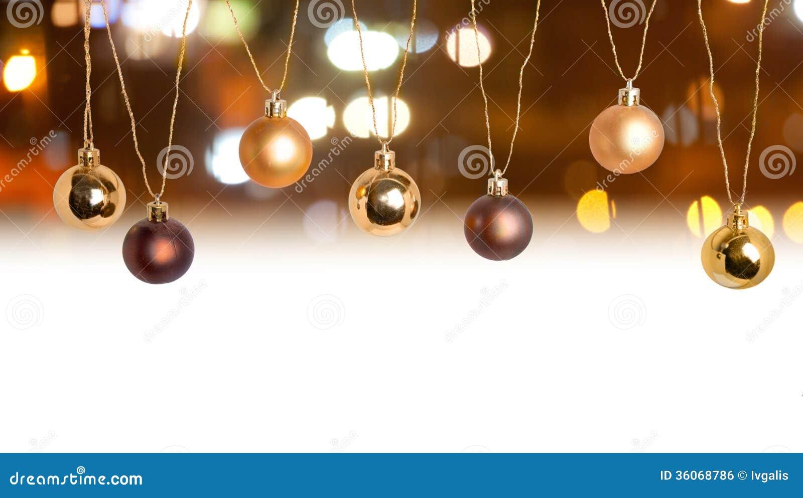 Christmas Card Border With Bokeh Backdrop Royalty Free Stock Image ...