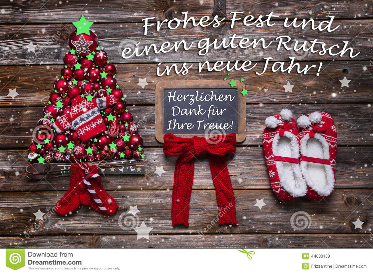 Christmas Card For Business Partners, Customers And Staff With G Stock  Photo   Image Of Austria, Merry: 44683108