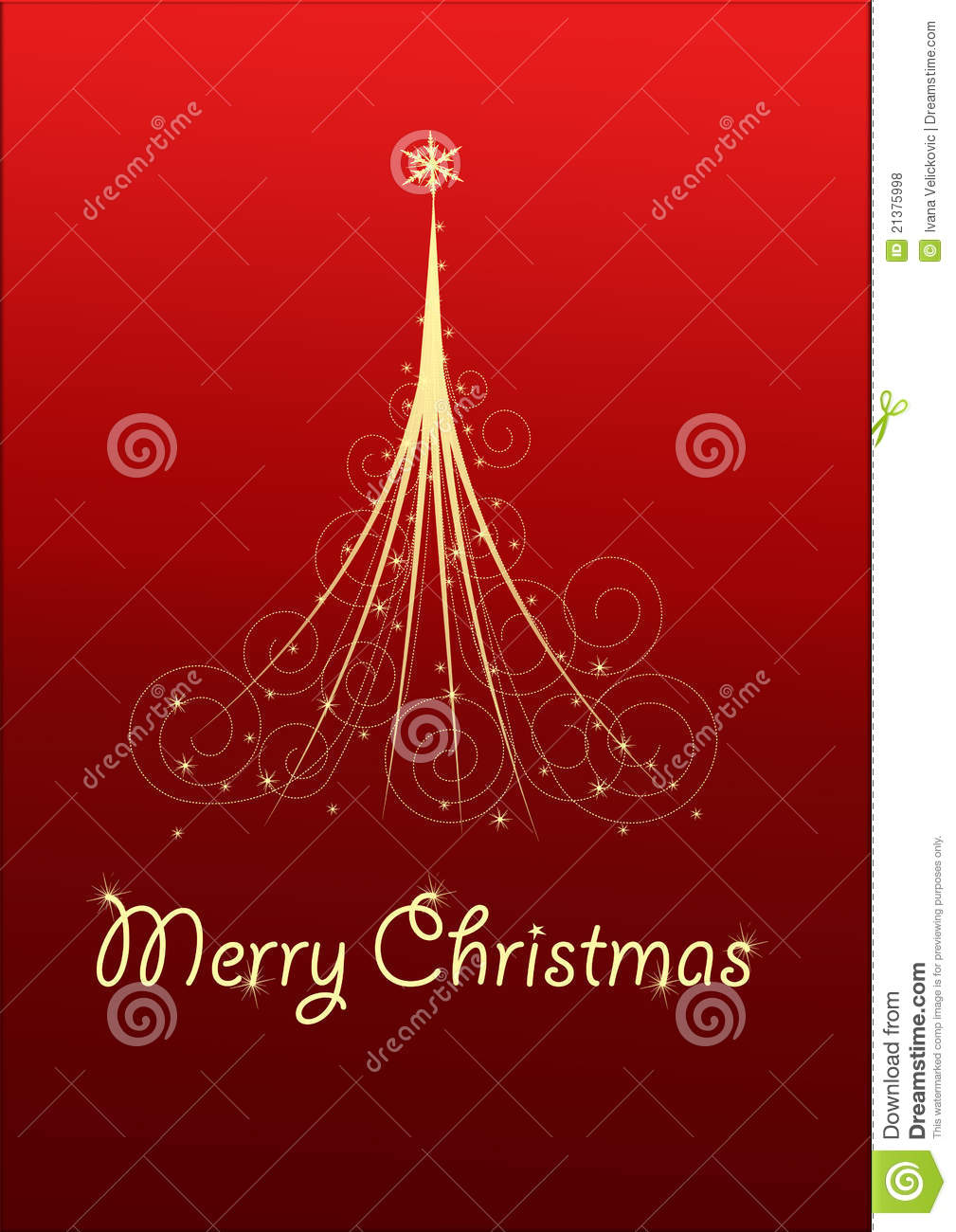 royalty free stock photo download christmas card with christmas tree - Christmas Card Tree