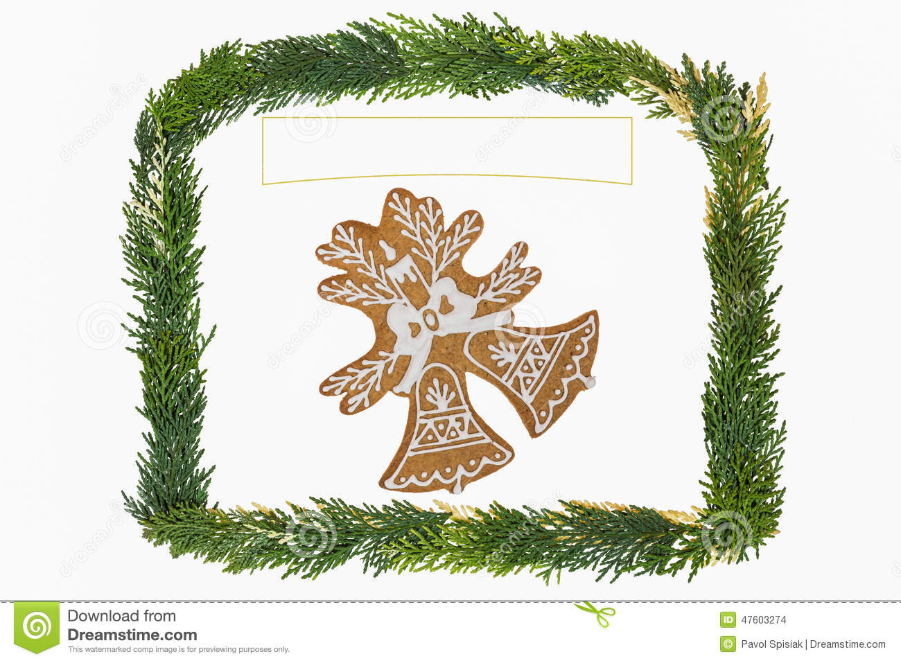 Christmas Card With Decoration . Stock Photo - Image of homemade ...