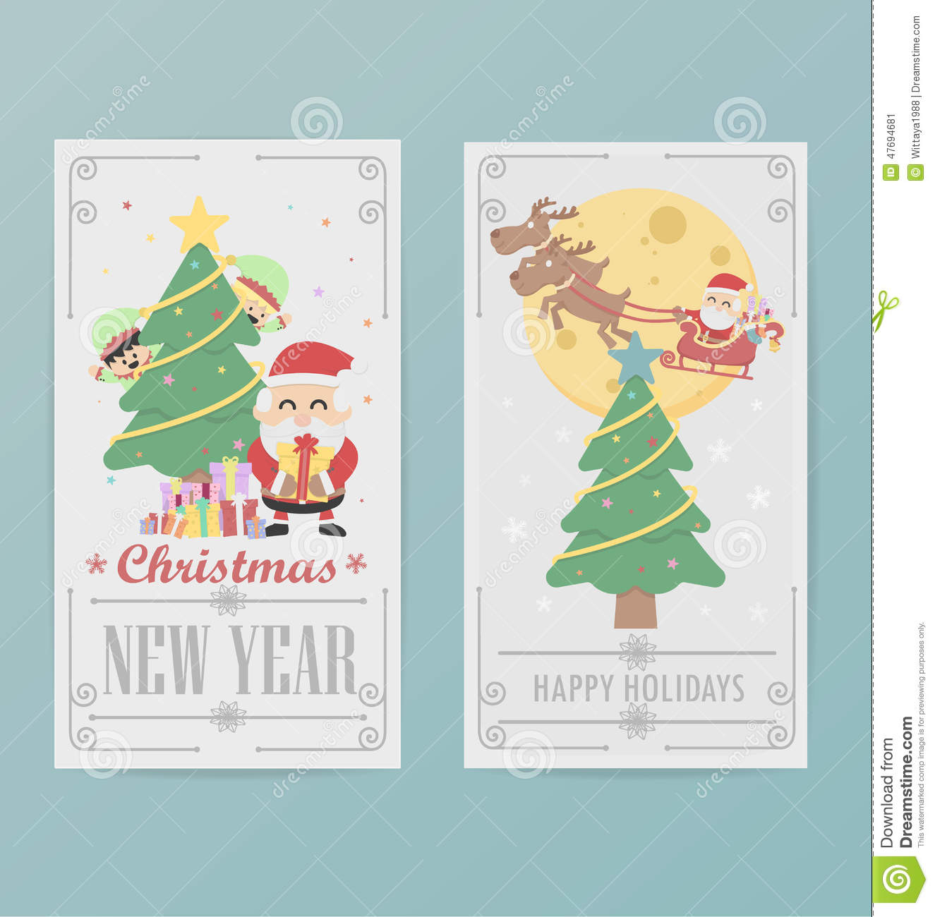 christmas card design layout template b - Christmas Card Layout