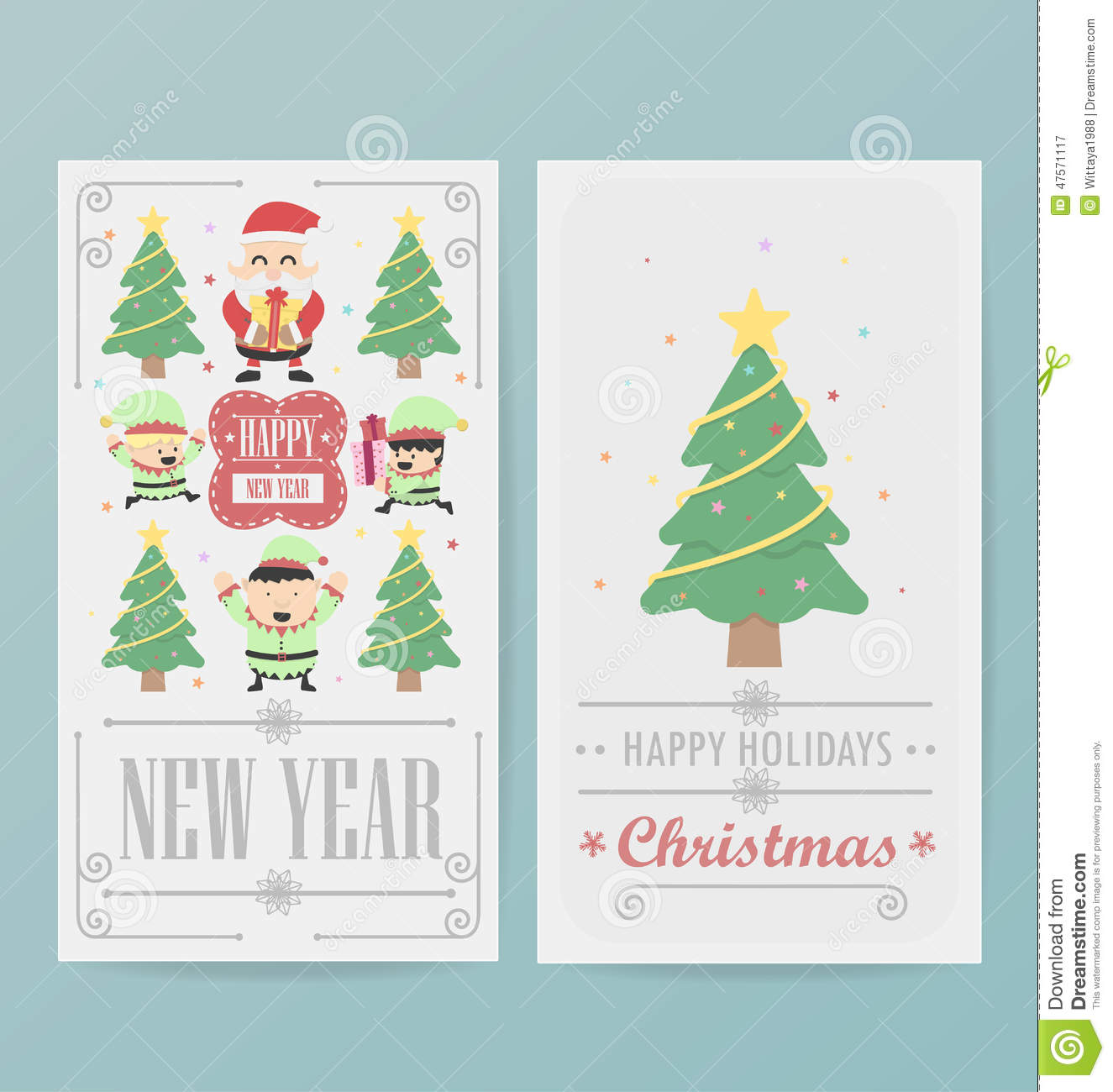 Christmas Card Design Layout Template Vector Image 47571117 – Christmas Card Layout