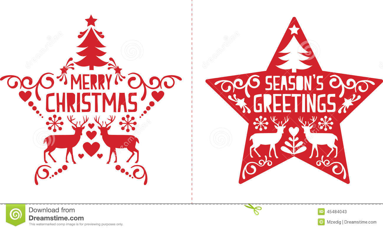 Christmas Card Design Stock Vector Illustration Of
