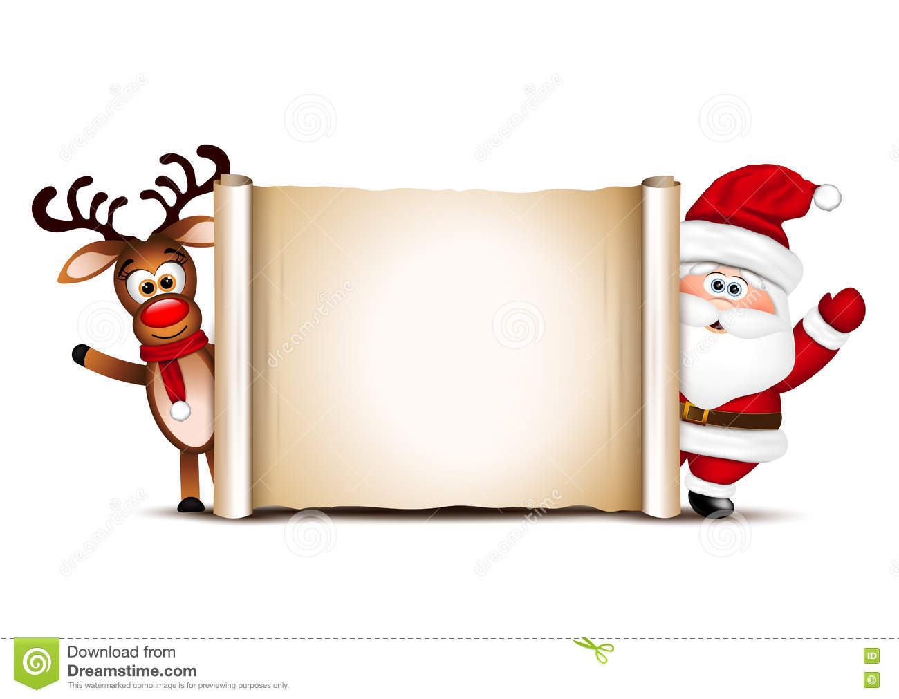 christmas card design template  santa claus and his