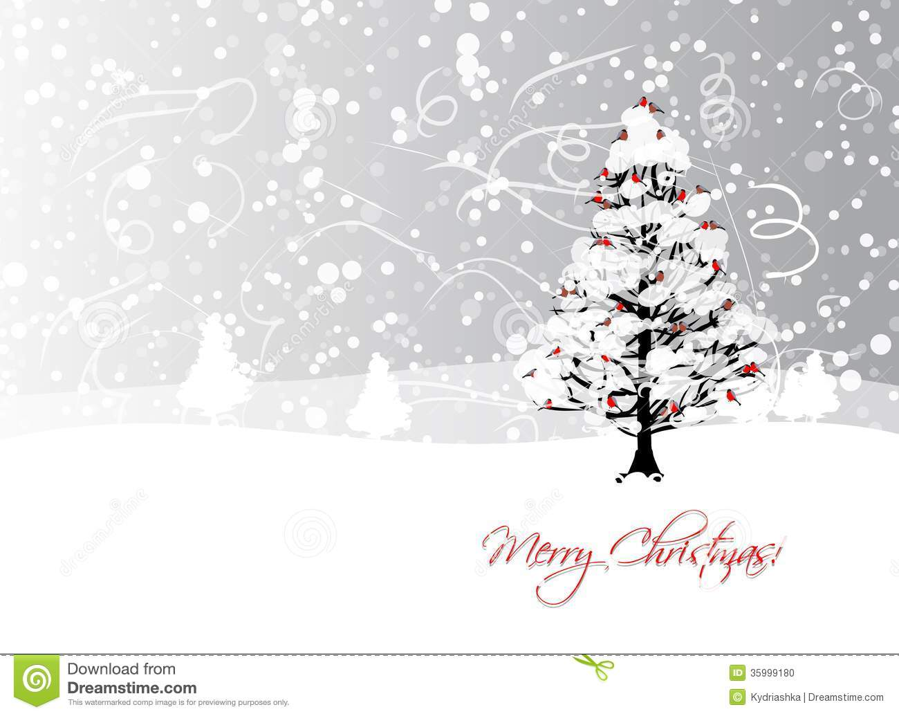 Christmas Card Design Ideas Ks2 : Christmas card design with winter tree and stock photo