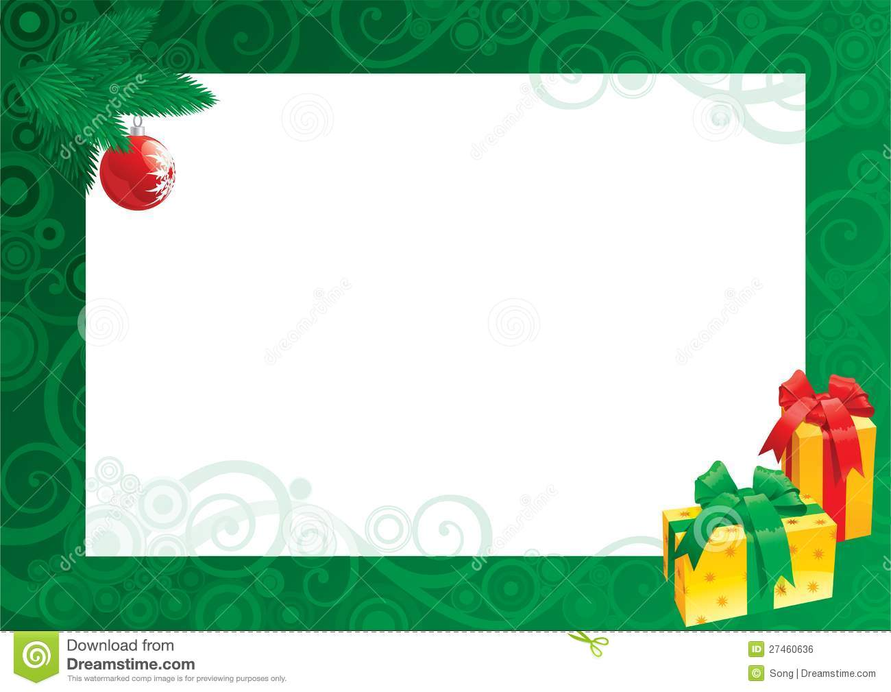 Christmas Card With Empty Blank For Text Royalty Free
