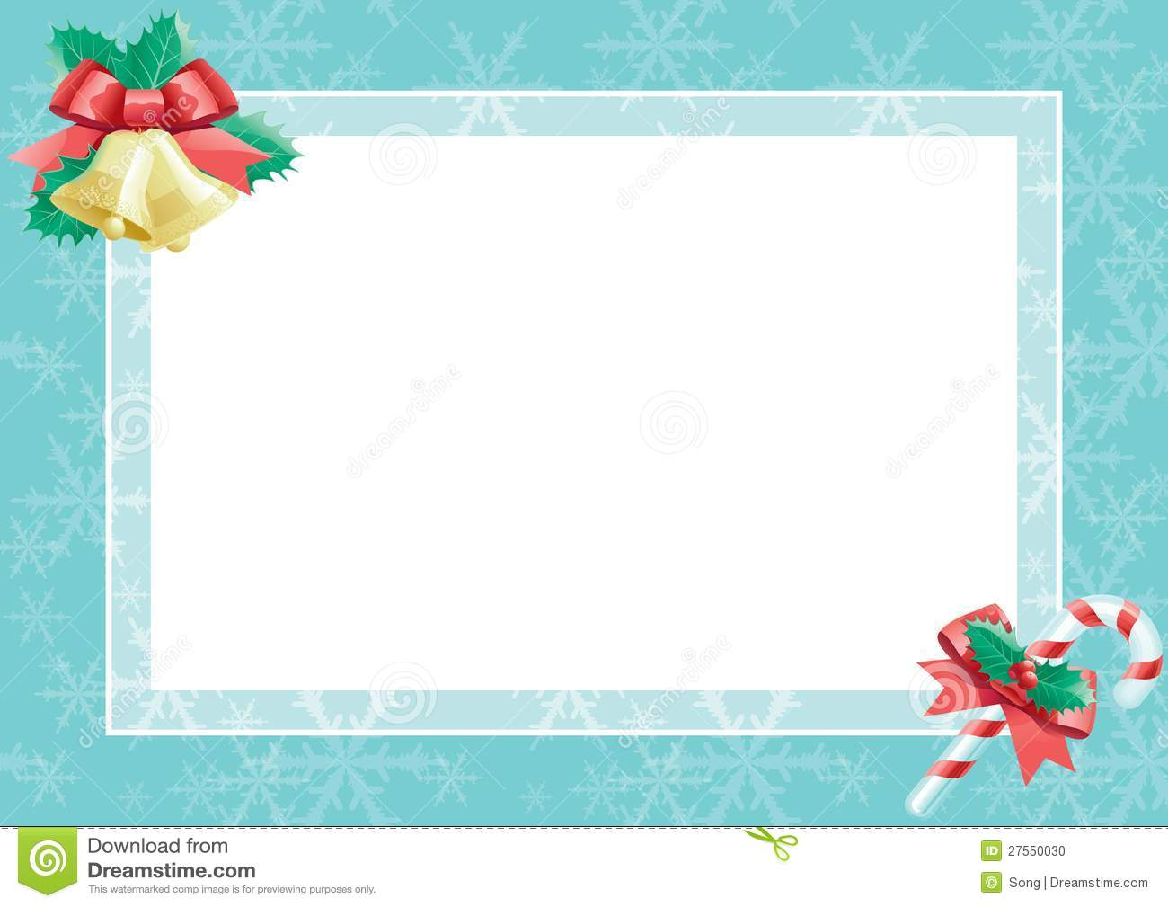 Christmas Card With Empty Blank For Text Stock Vector - Illustration ...