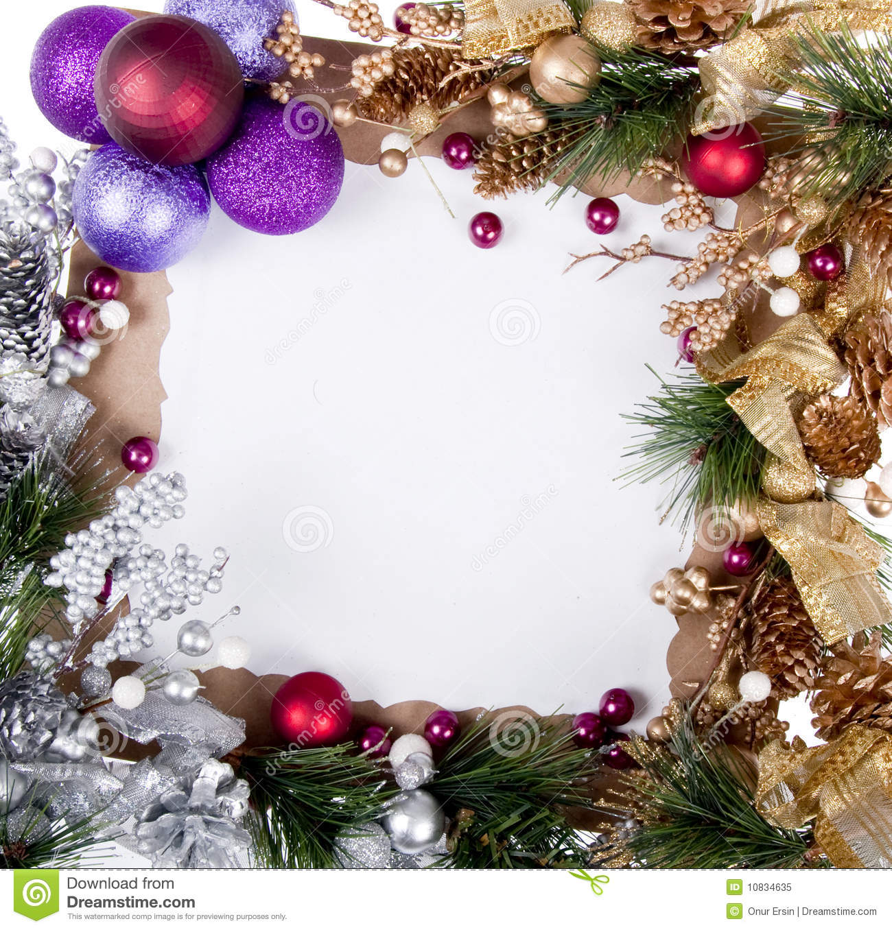 Christmas Card Frame Royalty Free Stock Photo Image