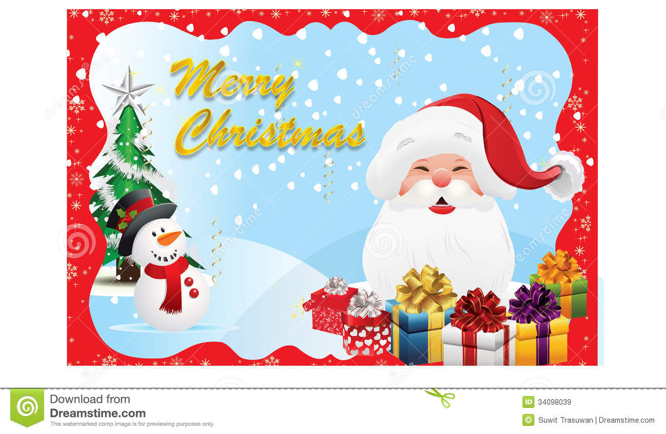 Christmas Card-07 Royalty Free Stock Images - Image: 34098039