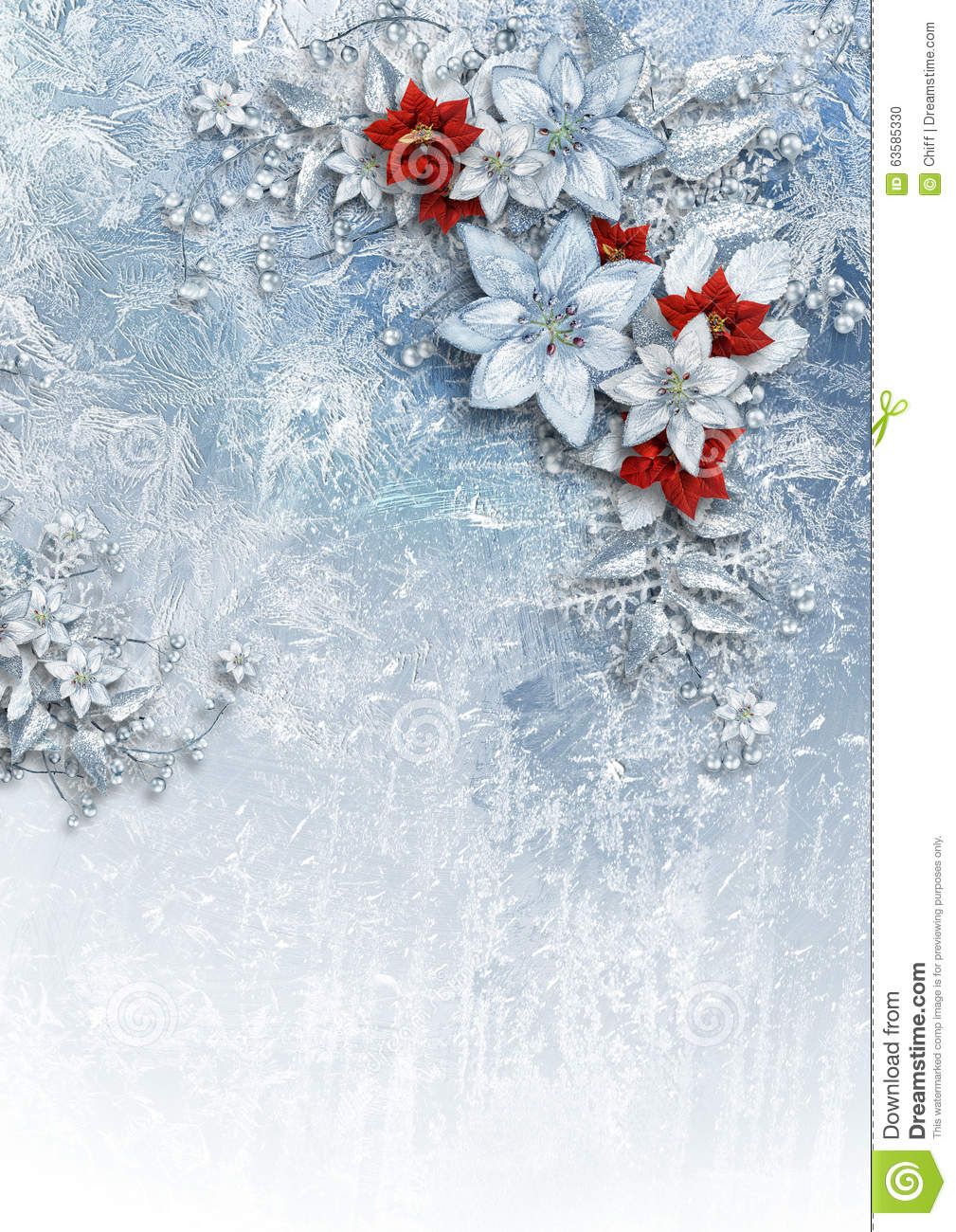 Christmas card with gorgeous winter flowers stock illustration christmas card with gorgeous winter flowers izmirmasajfo