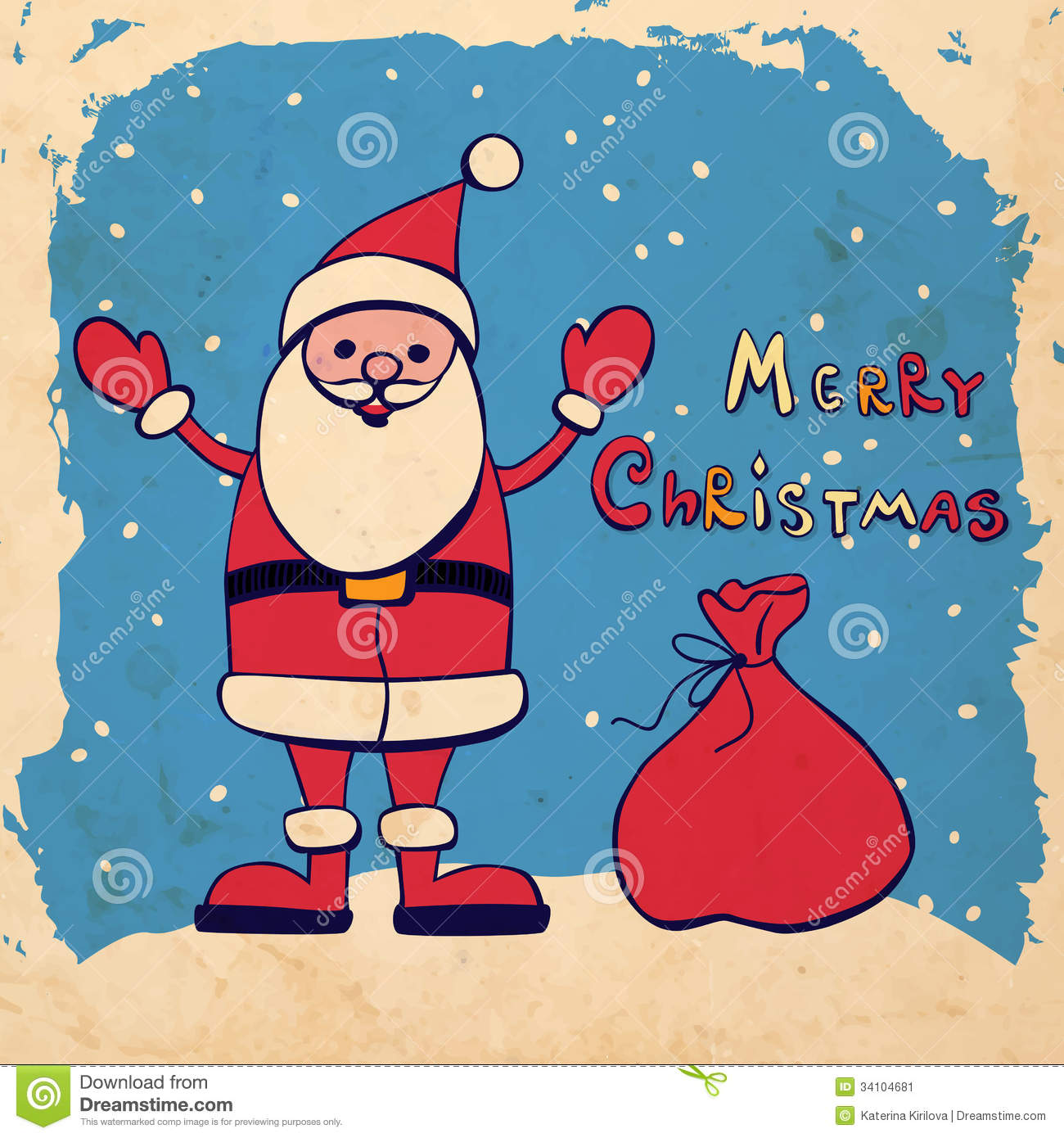 Displaying 17> Images For - Santa Claus With Gifts Drawing...